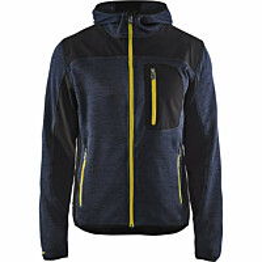 Neulottu softshell-takki Blåkläder 4930 tummansininen/keltainen
