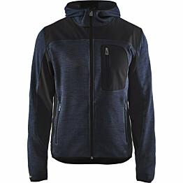 Neulottu softshell-takki Blåkläder 4930 tummansininen/musta