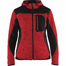 Naisten softshell-takki Blåkläder 4931 punainen/musta