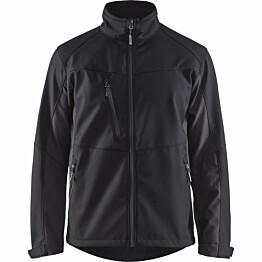 Softshell-takki Blåkläder 4950 musta/tummanharmaa