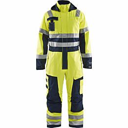 Palosuojattu talvihaalari Blåkläder 6368 Multinorm huomiokeltainen/sininen