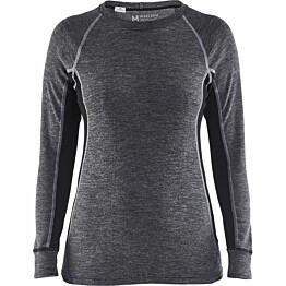 Naisten aluspaita Blåkläder 7200 harmaa/musta