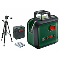Ristilinjalaser Bosch AdvancedLevel 360 Set, jalustalla