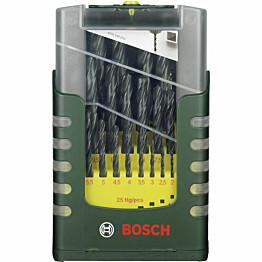 Metalliporanteräsarja Bosch 25 osaa HSS-R 1-13 mm