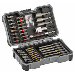 Ruuvauskärki- ja kuusiohylsysarja Bosch Extra Hard 43 osaa