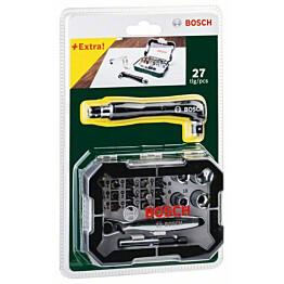 Ruuvauskärki- ja kuusiohylsysarja Bosch 28 osaa
