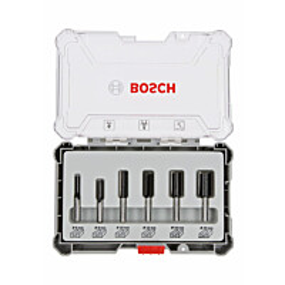 Jyrsinteräsarja Bosch HM Straight 8 mm 6 osaa