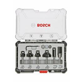 Jyrsinteräsarja Bosch HM Trim and Edging 8 mm 6 osaa