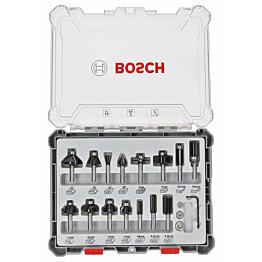 Jyrsinteräsarja Bosch HM Mixed Application 8 mm 15 osaa