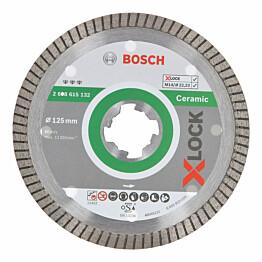 Timanttikatkaisulaikka Bosch X-Lock Best for Ceramic Extra Clean Turbo 125 mm