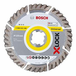 Timanttikatkaisulaikka Bosch X-Lock Standard for Universal 125x22,23 mm