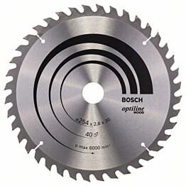 Pyörösahanterä Bosch Optiline Wood 254x2,8x30 mm 40T