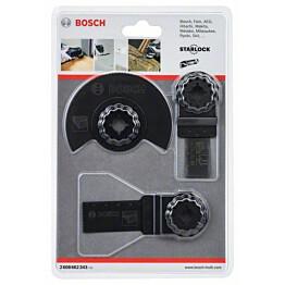 Yleistarvikesarja puulle Bosch Starlock 3 osaa