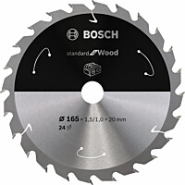 Pyörösahanterä Bosch Standard for Wood 165x20 mm 24T