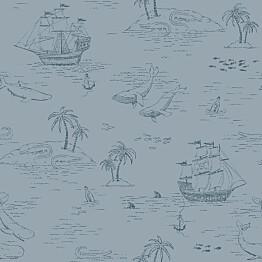 Tapetti Boråstapeter Newbie Treasure Island 7451 10,5x0,53m