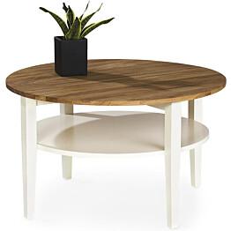 Sohvapöytä Seija Ø 80 cm tammi/valkoinen