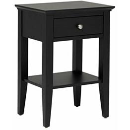 Yöpöytä Katja 1 laatikolla musta