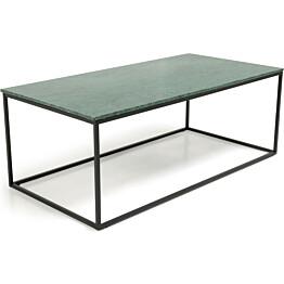 Sohvapöytä Olga 120x60x45 cm vihreä marmori/musta