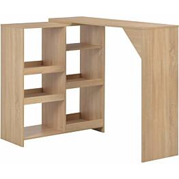 Baaripöytä siirrettävällä hyllyllä tammi 138x40x120 cm_1