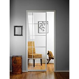 Liukuovi seinän sisään Stella Pocket Door M8 ristikko 825x2040mm valkoinen