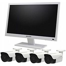 """Kameravalvontapaketti Hikvision Combo 22"""" 1 TB 8 kanavaa + 4 valvontakameraa"""