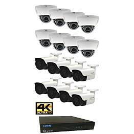 Valvontakamerajärjestelmä YCX sis. tallennin 2 TB + 16 IP-kameraa
