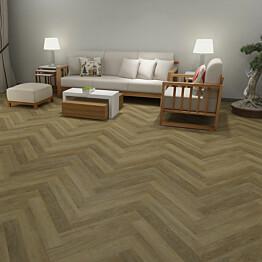 Vinyylilankku Check Floors Check One Herringbone 2072H Alteno Oak vaaleanruskea
