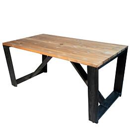 Pöytä EcoFurn Jussi 160 musta/ruskea
