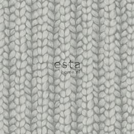 Tapetti Esta Chunky Knit 148343, 0,53x10,05m, tummanharmaa