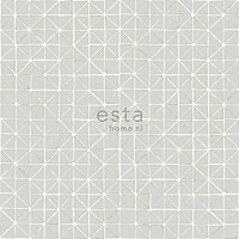 Tapetti Esta Geometric Shapes 148349, 0,53x10,05m, taupe