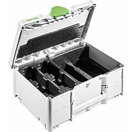 Tarvikesalkku Festool Systainer³ SYS3 M 187 ENG 18V, akuille ja latureille