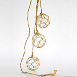 LED-koristepallot Finvalo 3-osainen ruskea