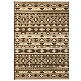 Sisaltyylinen matto sisä-/ulkotiloihin 120x170cm etninen kuvio