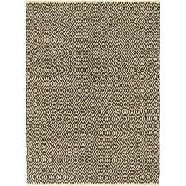 Chindi-matto 120x170cm käsinkudottu nahka/puuvilla musta