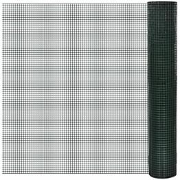 Kanaverkko 19x19mm, galvanoitu, PVC pinnoitteella, 10x1m, vihreä