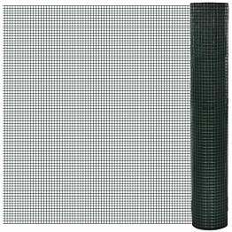 Kanaverkko 12x12mm, galvanoitu, PVC pinnoitteella, 25x1m, vihreä