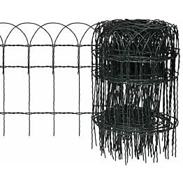 Puutarhan raja-aita, jauhemaalattu rauta, 10x0.4 m