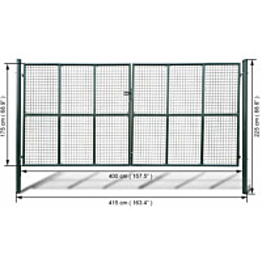 Puutarhan verkko-aidan portti, 415x225cm/400x175cm