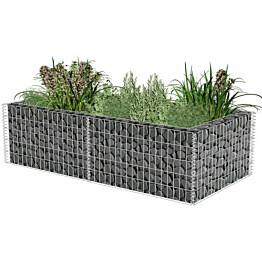 Kivikori/kukkalaatikkokehys, galvanoitu teräs, 180x90x50cm