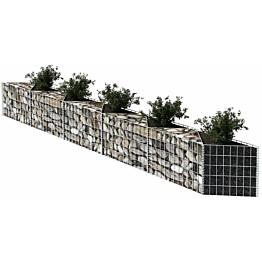 Kivikori, galvanoitu teräs, 300x30x50cm
