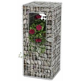 Kivikori/kukkalaatikkopylväs, teräs, 50x50x120cm