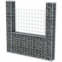 Kivikori, U-muoto, galvanoitu teräs, 160x20x150cm