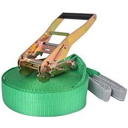 Slackline/tasapainoliina 15mx50mm, 150 kg, vihreä