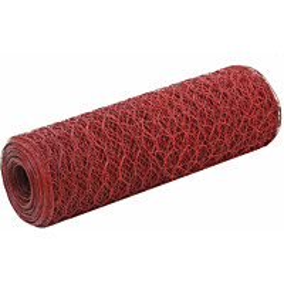 Kanaverkko, teräs, PVC pinnoitteella, silmäkoko 36mm, 25x0.5m, punainen