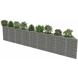 Kivikoriseinä, galvanoitu teräs, 630x30x100cm