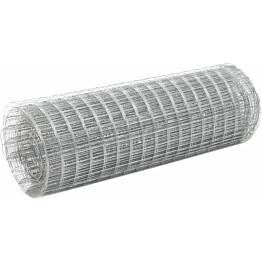 Kanaverkko 16x16mm, galvanoitu teräs, 25x0.5m, hopea