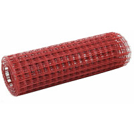 Kanaverkko 16x16mm, galvanoitu teräs, 25x0.5m, punainen
