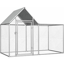 Kanahäkki, 2x1x1,5m, galvanoitu teräs