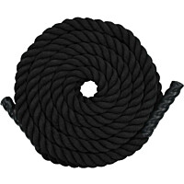 Voimaköysi 9m, polyesteri, musta