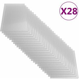Polykarbonaattilevyt, 28 kpl, 4 mm, 121x60 cm